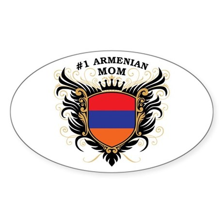 Number One Armenian Mom Oval Sticker