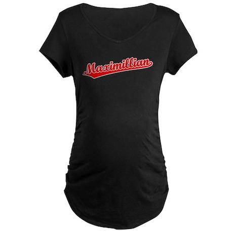 Retro Maximillian (Red) Maternity Dark T-Shirt