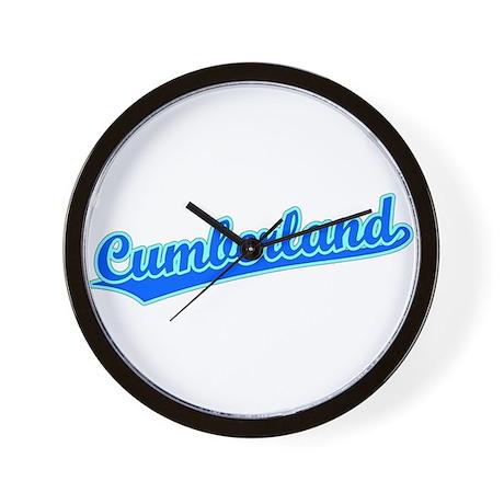Retro Cumberland (Blue) Wall Clock