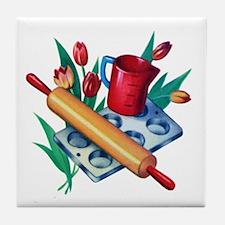 Cooking Retro Kitchen Tile Coaster