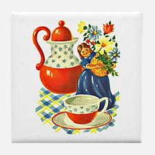 Coffee Retro Kitchen Tile Coaster