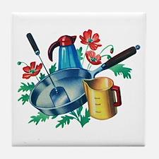 Pancake Retro Kitchen Tile Coaster