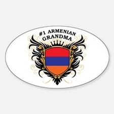 Number One Armenian Grandma Oval Decal