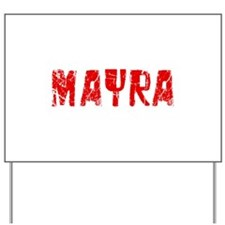 Mayra Faded (Red) Yard Sign