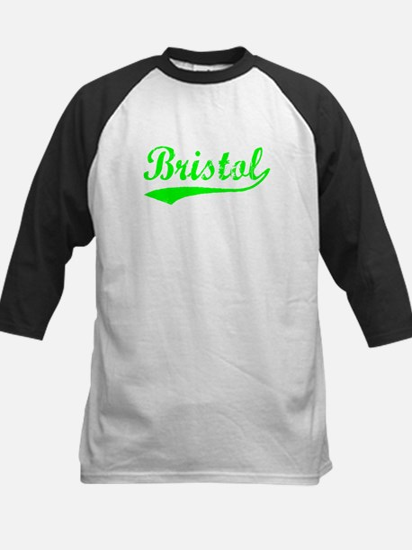 Vintage Bristol (Green) Kids Baseball Jersey