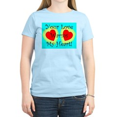 Your Love Warms My Heart Women's Pink T-Shirt