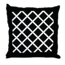 Black & white trellis appearance throw pillow