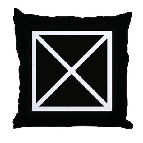 Black & white X pattern throw pillow