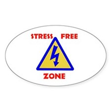 STRESS FREE Oval Decal