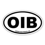 Ocean Isle Beach, NC Euro Oval Sticker