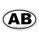 Atlantic Beach, NC Euro Oval Sticker
