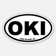 Oak Island, NC Euro Oval Decal