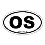 Ocean Sands, NC Euro Oval Sticker