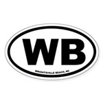 Wrightsville Beach, NC Euro Oval Sticker