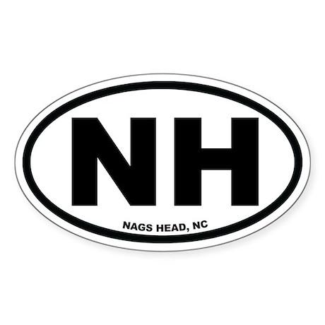 Nags Head, NC Euro Oval Sticker