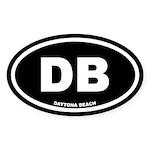 DB Daytona Beach, Fl Black Oval Sticker (10 pk)