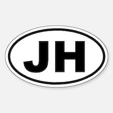 JH Jackson Hole, Wyoming Euro Oval Decal