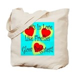 Firefly Hearts Tote Bag