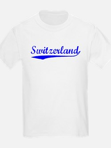 Vintage Switzerland (Blue) T-Shirt