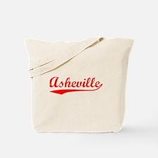 Vintage Asheville (Red) Tote Bag