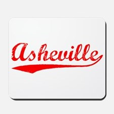 Vintage Asheville (Red) Mousepad