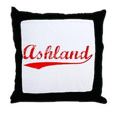 Vintage Ashland (Red) Throw Pillow