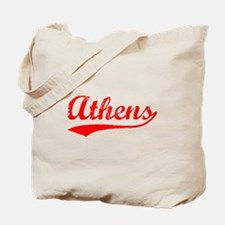Vintage Athens (Red) Tote Bag