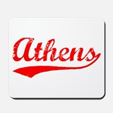 Vintage Athens (Red) Mousepad