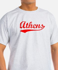 Vintage Athens (Red) T-Shirt