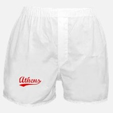 Vintage Athens (Red) Boxer Shorts