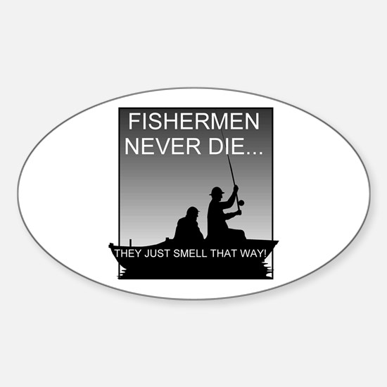 Fishing! Oval Decal