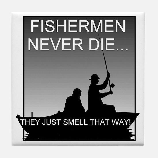 Fishing! Tile Coaster