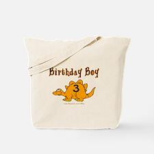 Birthday Boy 3 Dinosaur Tote Bag