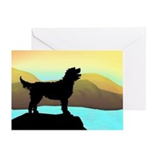 Labradoodle By The Sea Greeting Card