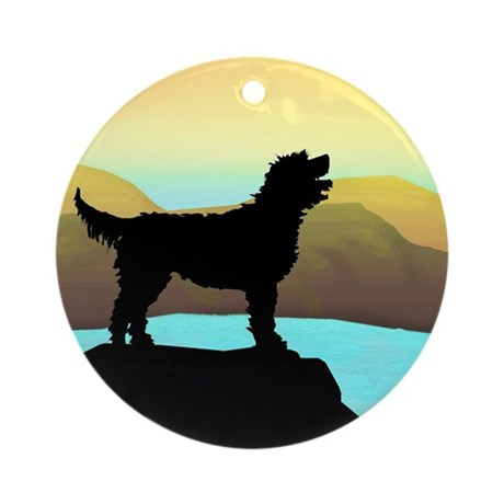 Labradoodle By The Sea Ornament (Round)