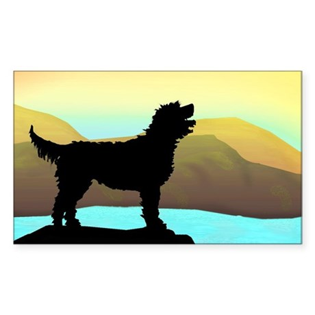 Labradoodle By The Sea Sticker (Rectangle)
