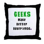 Geek Boyfriend Throw Pillow