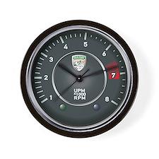 Retro Porsche 356 Inspired Tachometer Wall Clock