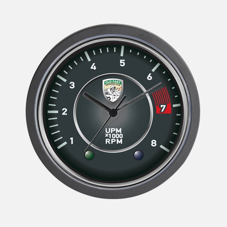 Retro Porsche 356 Inspired Tachometer Wall Clock