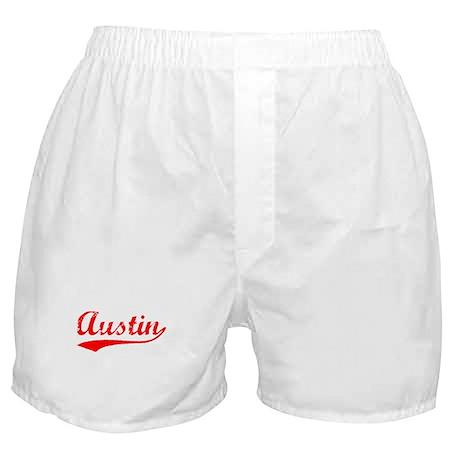 Vintage Austin (Red) Boxer Shorts