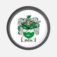 McCabe Family Crest Wall Clock