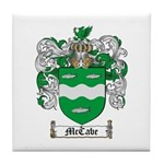 McCabe Family Crest Tile Coaster