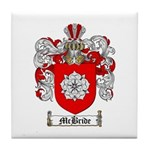 McBride Family Crest Tile Coaster