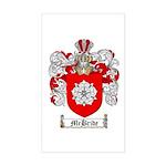 McBride Family Crest Rectangle Sticker