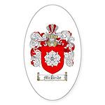 McBride Family Crest Oval Sticker