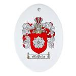 McBride Family Crest Oval Ornament