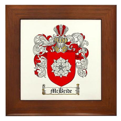 McBride Family Crest Framed Tile