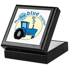 """My big blue tractor"" Keepsake Box"