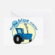 """""""My big blue tractor"""" Greeting Cards (Pk of 10"""