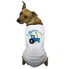 """My big blue tractor"" Dog T-Shirt"